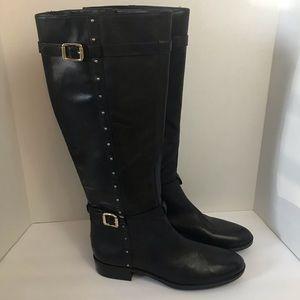Vince Camuto Preslen black leather boots